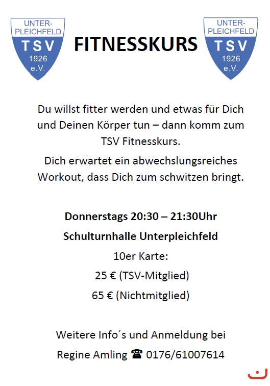 Fitnesskurs Aushang 11/2019
